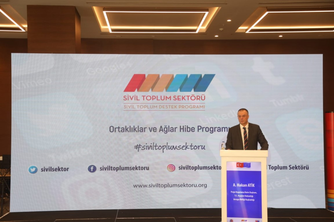 Ambassador, Deputy Minister of Foreign Affairs and Director for European Union Affairs Faruk KAYMAKCI Participated in the Closing Event of the Grant Scheme for Partnerships and Networks Carried out within the Scope of the Civil Society Support Programme